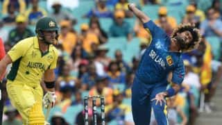 AUS 319/8 in 49.4 overs | LIVE ICC Champions Trophy 2017 Score, AUS vs SL, warm-up match: AUS win
