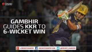 Gautam Gambhir steers Kolkata Knight Riders to 6-wicket victory against Delhi Daredevils in IPL 2015