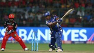 IPL 2017: Kieron Pollard's characteristic 70 helps Mumbai Indians thrash Royal Challengers Banglore by 4 wickets despite Samuel Badree's hat-trick