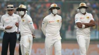 Sri Lanka don masks again; Suranga Lakmal leaves field