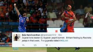 IPL 2017: Twitterati go berserk after Jasprit Bumrah, Ravindra Jadeja's sensational feats in Gujarat Lions (GL) vs Mumbai Indians (MI) match
