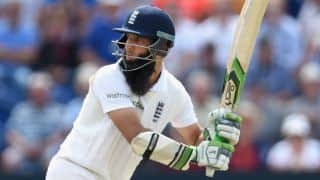 Moeen Ali out for fighting 59 on Day 2 of 3rd Ashes 2015 Test at Edgbaston