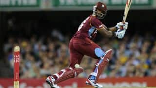 West Indies reach 132/8 in 1st T20I